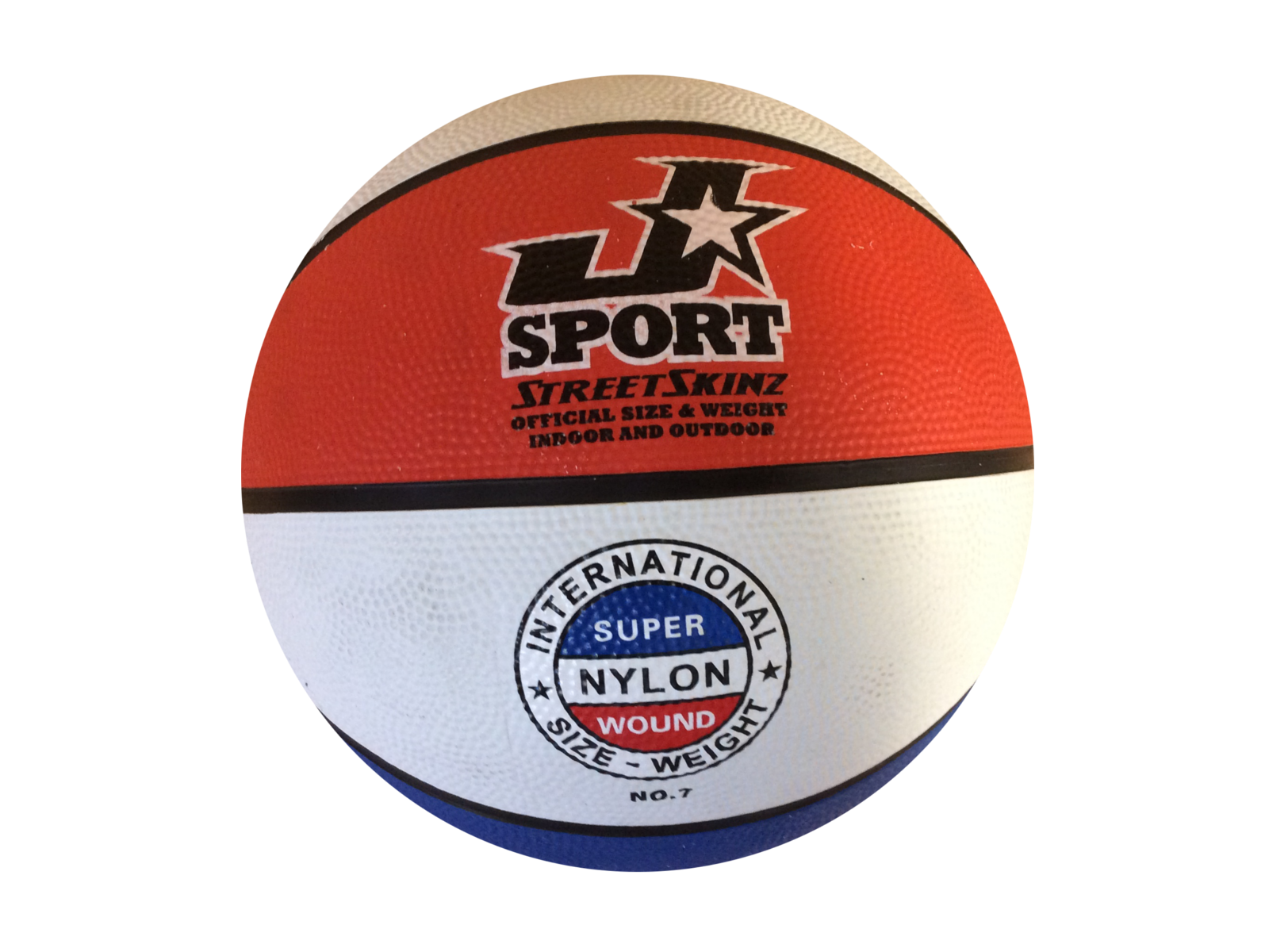Lot of 12 Red white blue Basketballs Official size /& weight indoor//outdoor