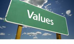 values sign green